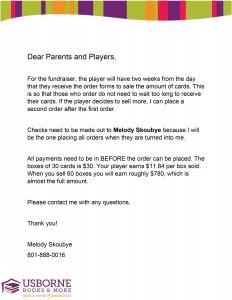 fundraiser letter - Fundraiser Cover Letter